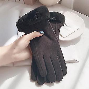 Női Stretch Gyapjú kesztyű fekete