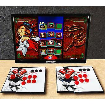 アーケードゲームの電子ゲーム機。ゲームビデオはプラグアンドプレイです。ジョイスティック付き2ゲームコンソール。HDMI Vgaポートでテレビモニターをサポート