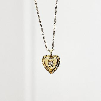 Sterling Silver Pendants Necklaces For Women Gold Heart With CZ Crystal  Gift|Necklaces