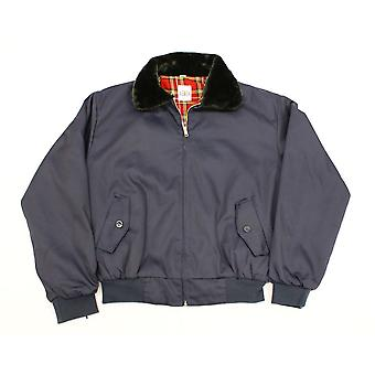 Klassieke jaren 1970 stijl Harrington bont kraag jas