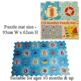 A to Z EVA Number Puzzle Play Mat Soft Foam 93 cm x 62 cm 10m+