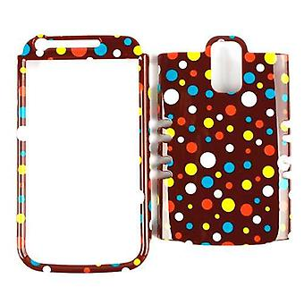Unlimited Cellular Rocker Snap-On Case pour Samsung Galaxy S2 Hercules T989 - Colorful Polka Dots sur Brown