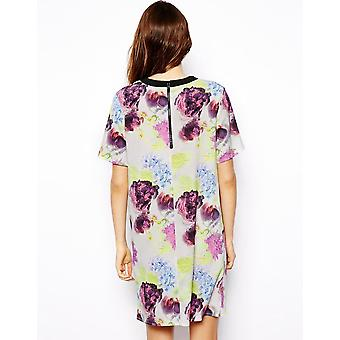 ASOS Tee Dress In Bright Floral Print DR901-6