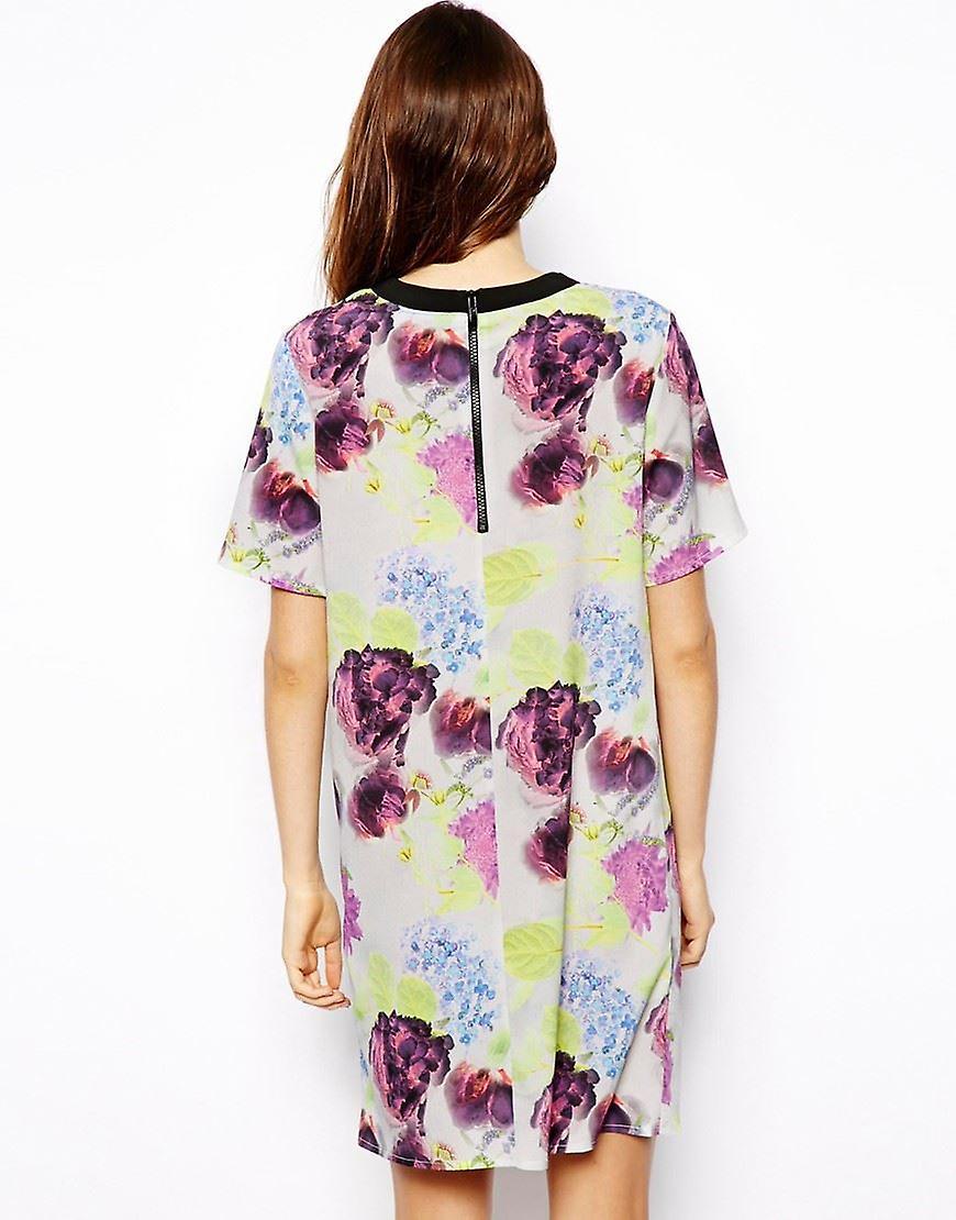 فستان المحملة منظمات خدمات الإيدز في مشرق الزهور الطباعة DR901-6