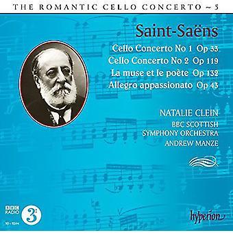 Saint-Saens / Clein / Manze / BBC Scottish So - Romantic Cello Concerto 5 [CD] USA import