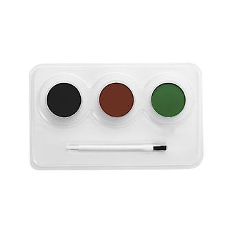 Make-up FX Aqua gezicht en lichaam kleur camouflage Kit 3 kleur, penseel en stap-voor stap Anl