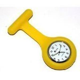 Новый моды силиконовые медсестры брошь туника ФОБ часы на Boolavard TM. (15 - желтый)