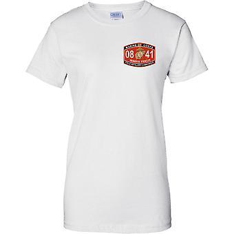 US Marine Corps 08 41 - Semper Fidelis - Feld-Artillerie - Damen Brust Design T-Shirt