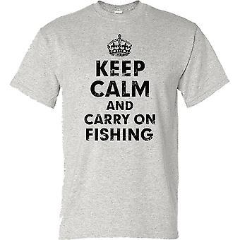 Kalmte bewaren en voort Hengelsport visser hengelaar Kids T Shirt