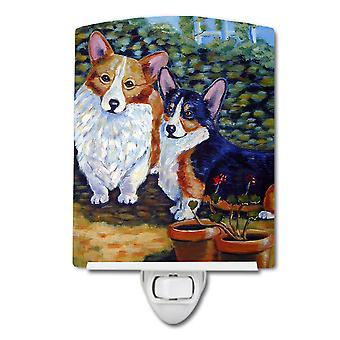 Carolines Treasures  7094CNL Cardigan and Pembroke Corgi Ceramic Night Light
