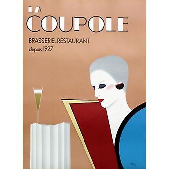 La Coupole Poster Print von Razzia - Gérard Courbouleix-Deneriaz (25 x 34)