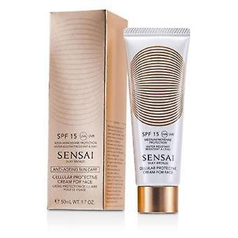 Creme protetor celular de bronze de seda de Kanebo Sensai para a cara SPF 15-50ml/1.7 oz