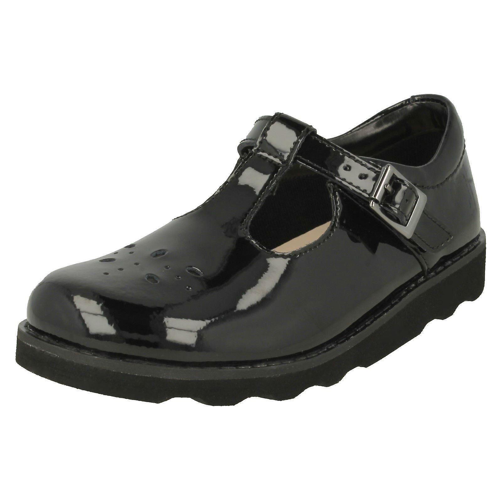 Girls Clarks Classic T Bar Shoes Crown Wish