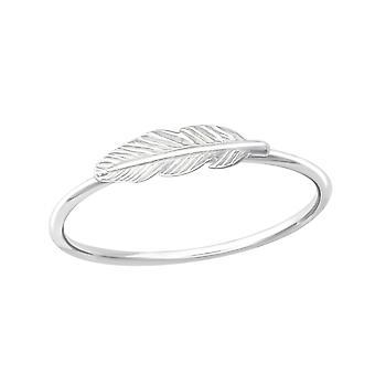 Pena - 925 Sterling Silver Plain anéis - W35769x