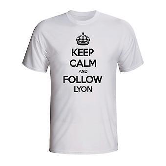 Garder calme et suivre Lyon T-shirt (blanc)