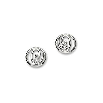 Sterling sølv tradisjonelle moderne moderne blomstre Design par øredobber - CE395