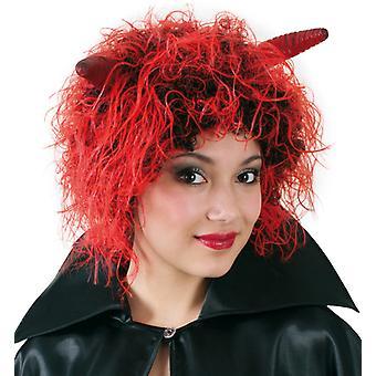 Περούκα διάολος διάβολος κόκκινο