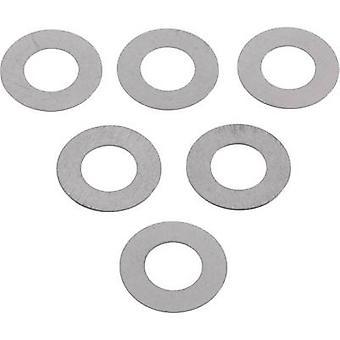 Stalen Shim ring 6 mm 12 mm 0.2 mm 20 PC('s)
