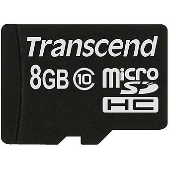 Premium Transcend microSDHC kaart 8 GB klasse 10