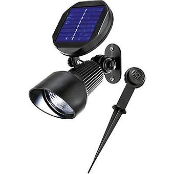 Esotec Solar garden spotlight Spotlight 102138 LED (monochrome) Cold white Black