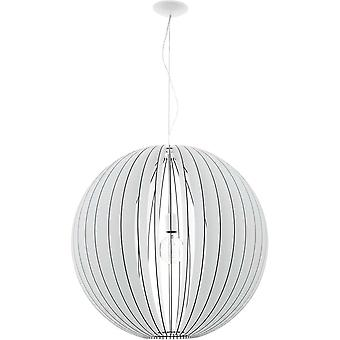 Eglo Cossano 700Mm White Wash Wood Globe Silhouette Pendant