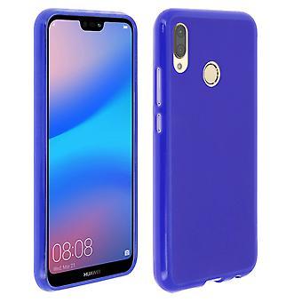 Silikon sak, glanset & Matt bakdekslet for Huawei P20 Lite - blå