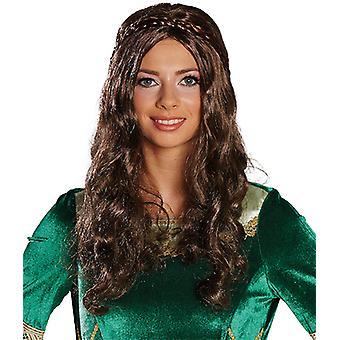 Renæssance paryk langt hår paryk hofdame damsel tilbehør