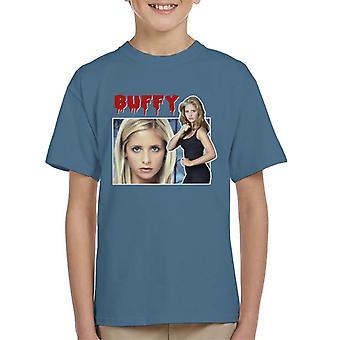Buffy Vampire Slayer hyllning Montage Kid's T-Shirt