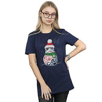 Gwiezdne wojny kobiet szturmowców do śniegu dobry chłopak pasuje Koszulka