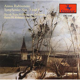 Anton Rubinstein - Rubinstein: Symphonies 3 & 5 [CD] USA import