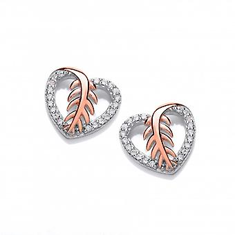 Cavendish French Feathered Heart Earrings