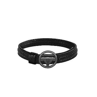 MASERATI - bracelet - mens-steel leather - JM118AMC08