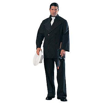 Gangster Wearing Black pinstripe Suit - Gangsters & Molls - Lifesize Cardboard Cutout / Standee