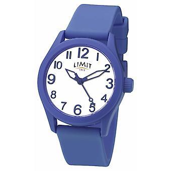 Grense | Blå silikon håndtak | Hvit ring | 5719 watch
