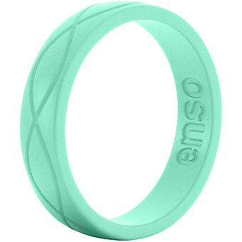 Enso Rings Women's Infinity Series Silicone Ring - Mint Green