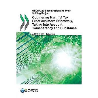 OECDG20 Baseren erosie en Profit Shifting Project bestrijding van schadelijke fiscale praktijken effectiever rekening houdend Account transparantie en stof door de OESO