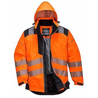 Portwest - PW3 Vision Hi-Vis säkerhet arbetskläder regnjacka