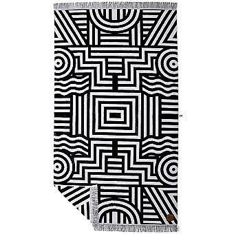 Slowtide Visions Beach Towel in Black/White