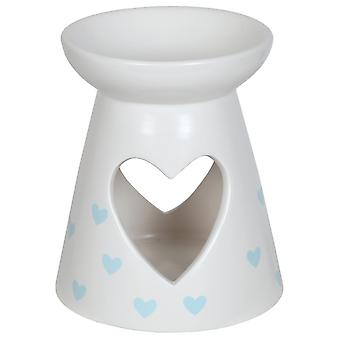 Aroma Cut Out Heart Melt Burner, Blue