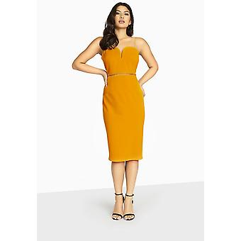 Girls On Film Womens/Ladies Midas Touch Sweetheart Midi Dress