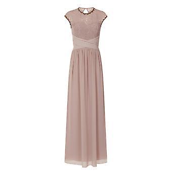 Little Mistress Womens/Ladies Mink Lace Bust Maxi Dress