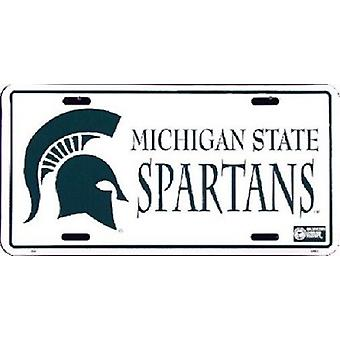 Michigan State Spartans NCAA License Plate
