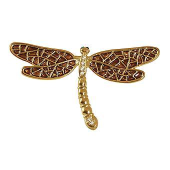 Evig samling emalje Golden Amber Dragonfly kostyme brosje