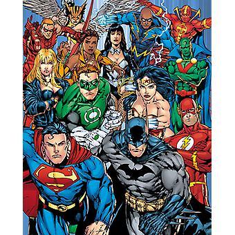 DC Comics Justice League Collage Mini affisch 40x50cm