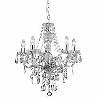 5 lampadario luce cromo finitura acrilico Marie Therese