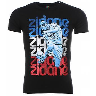 Camiseta-Zidane Print-Negro