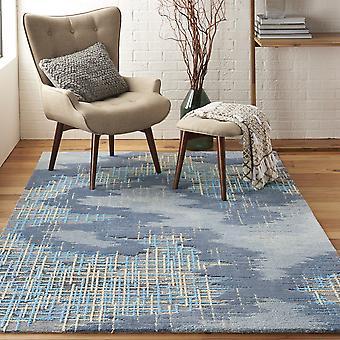 Symmetry Rugs Smm08 By Nourison In Blue Beige