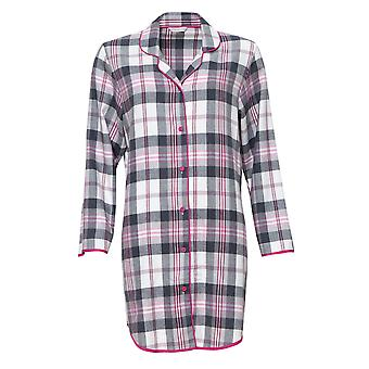 Cyberjammies 4252 Women's Lola Pink Mix Check Cotton Nightshirt