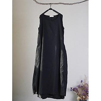 Sleeveless   Drawstring Lace Loose  Dress