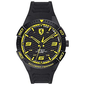 Scuderia Ferrari | Men's Apex | Black Rubber Strap | Black/Yellow Dial | 0830663 Watch
